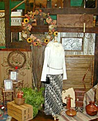 Visit the Calico Cat for unique clothing & gifts.